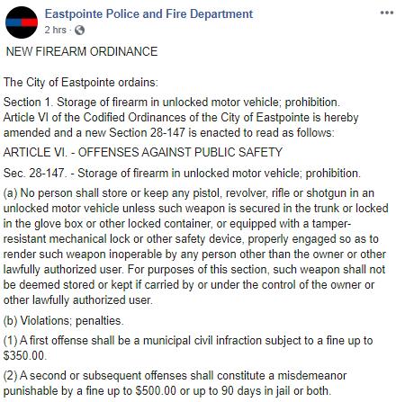 EPFD Facebook post
