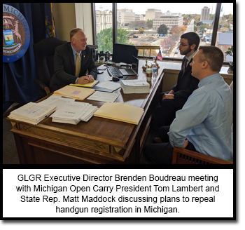 GLGR's Brenden Boudrea meets with Lambert and Rep. Maddock